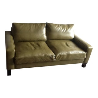 Custom Made Faux Crocodile Loveseat For Sale
