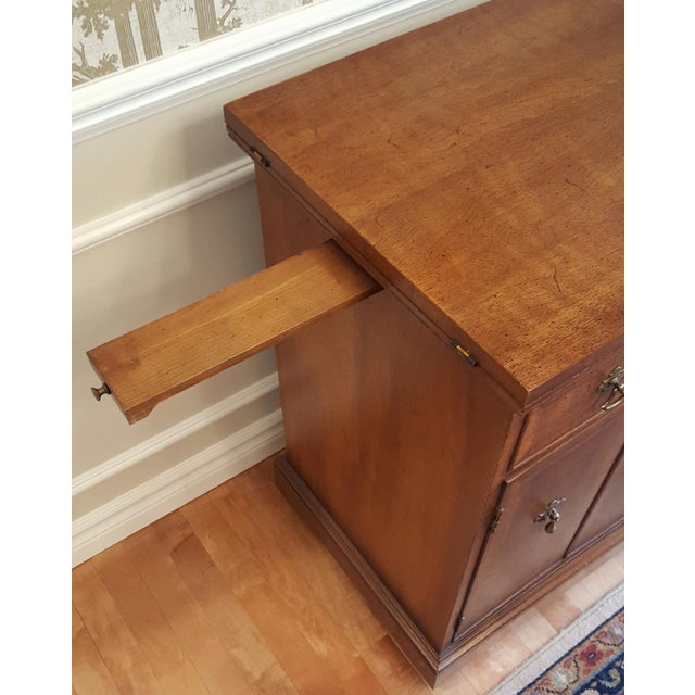 Brown Mid-Century Henredon Folio Four Rolling Buffet For Sale - Image 8 of 11
