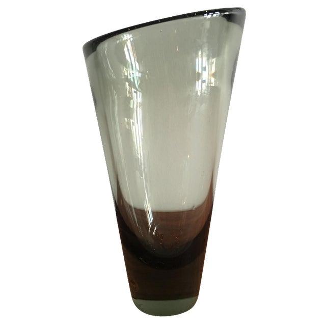 Vintage Holmegaard Per Lutken Gray Vase - Image 1 of 4