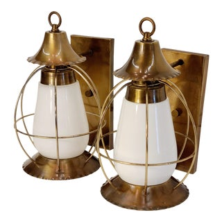Vintage Nautical Earl Lites Wall Sconces - a Pair For Sale
