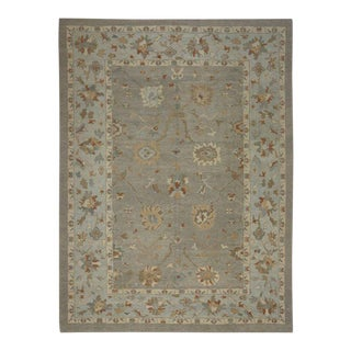 Modern Turkish Oushak Rug with Transitional Style, 11'03 X 15'00