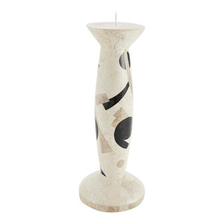 "1990s Medium Postmodern Tessellated Stone ""Et Cetera"" Candlestick Holder For Sale"