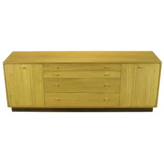 Harvey Probber Bleached Ribbon Mahogany Long Cabinet For Sale