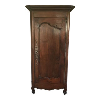 19th Century Walnut Bonnetiere Armoire For Sale