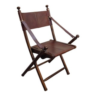 Industrial Rosewood Folding Chair