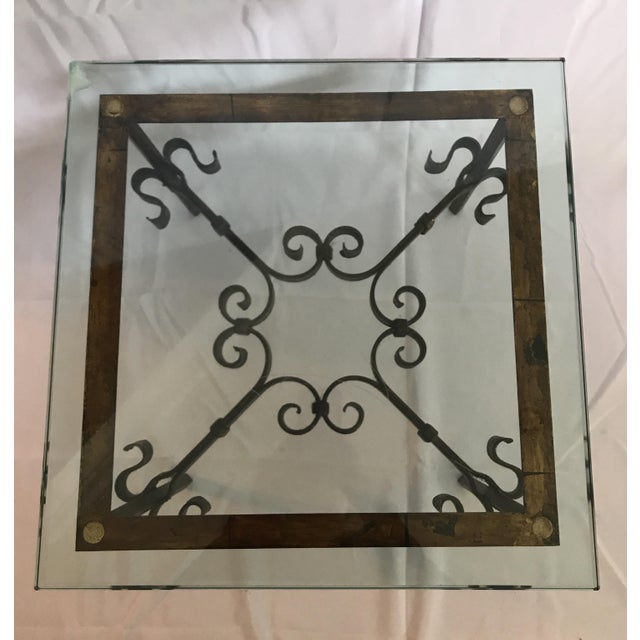 Marshall Fields 1960's Mid Century Modern Marshall Fields Spanish Revival Style Wrought Iron Side Table For Sale - Image 4 of 10