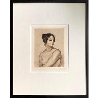 1889 Study of Olympus Pelissier for Judith Horace Vernet (After) Etching Signed Sj Ferris, Framed For Sale