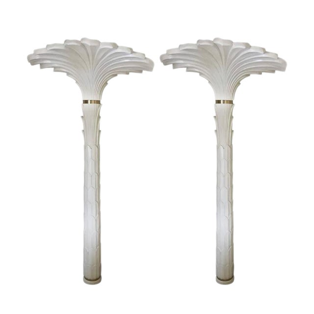 Palm Tree Wall Lights in the Style of Serge Roche - A Pair For Sale