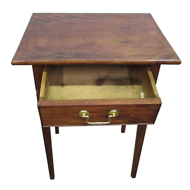 Single Drawer Wooden End Table For Sale - Image 4 of 8