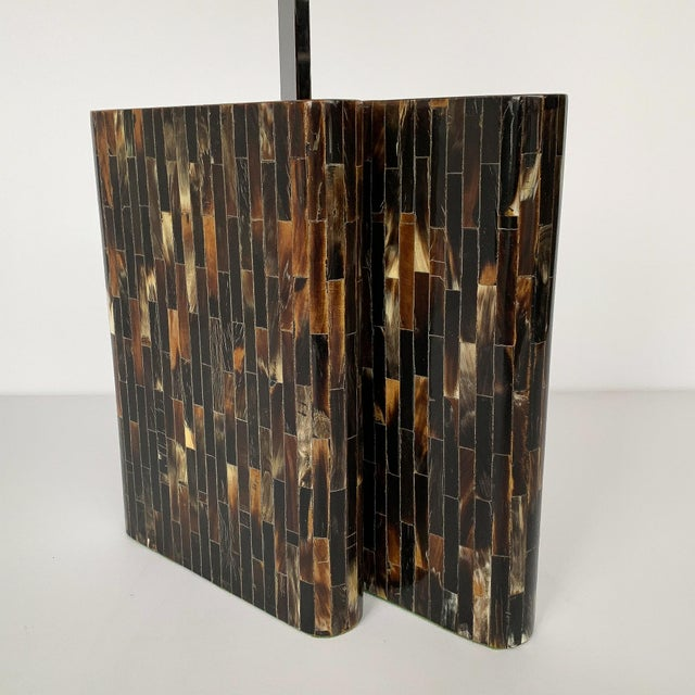 Silver Enrique Garcel Tessellated Horn Table Lamp For Sale - Image 8 of 13