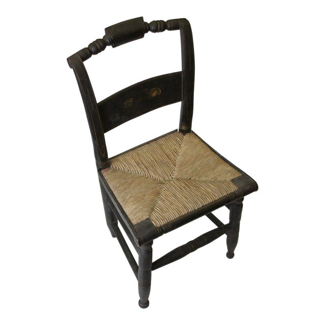 Early 20th Century Antique Children's Woven Seat Chair For Sale