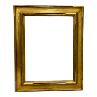 Early 20th Century Newcomb-Macklin Carved & Gilded Picture Frame C.1900 For Sale