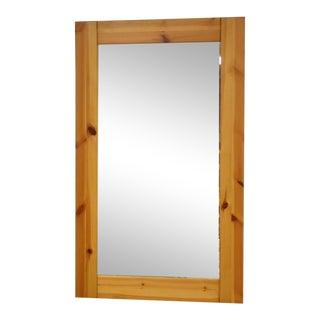 Danish Pine Mirror by Idé Møbler For Sale