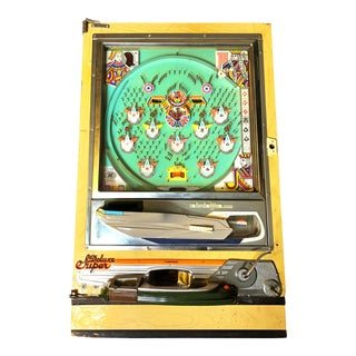 Vintage Mid Century Nishijin Pachinko Arcade Game With Original Balls and Mechanics, Deluxe Super Model Made in Japan For Sale
