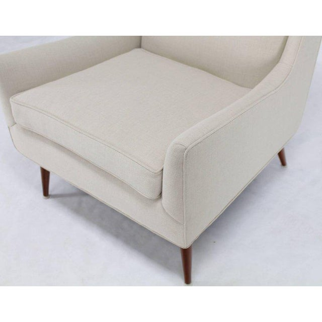 New Upholstery High Dowel Legs McCobb Lounge Chair For Sale - Image 4 of 9
