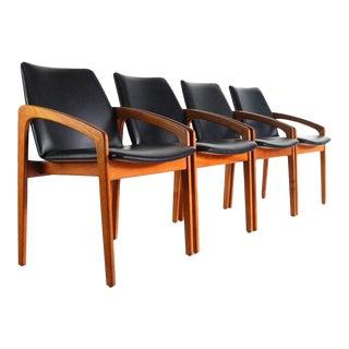 Vintage Mid Century Kai Kristiansen Chairs in Teak -Set of 4 For Sale