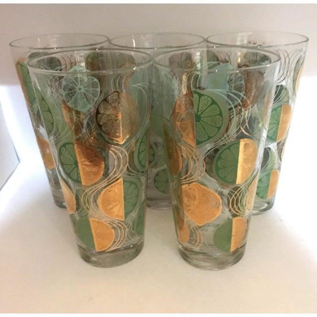 1960s Mid-Century Modern Highball Glasses - Set of 5 For Sale - Image 4 of 4