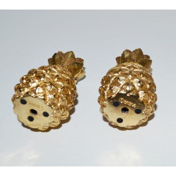 French Ormolu Style Pineapple Candlesticks - 4 - Image 4 of 5
