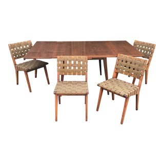 1960s Mid-Century Modern Jens Risom Dining Set - 5 Pieces For Sale