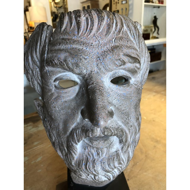 Late 20th Century Hellenic Style Plaster Bust on Stand For Sale - Image 5 of 13