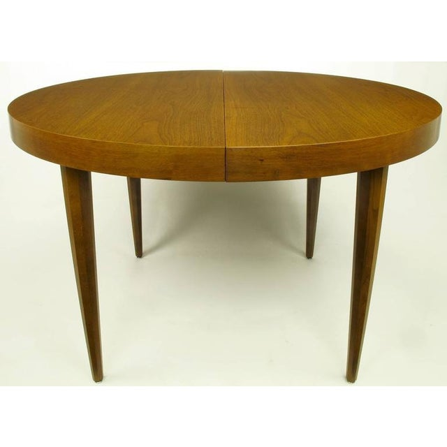 Sleek Modern Walnut Dining Table in the Style of T.H. Robsjohn-Gibbings - Image 3 of 7