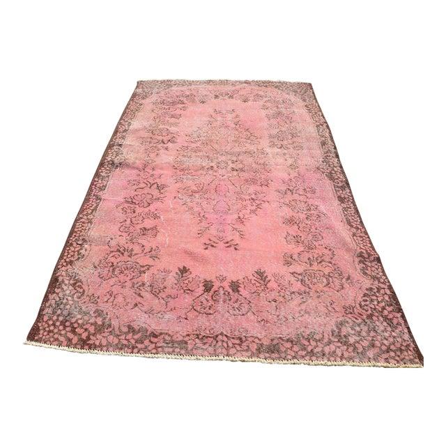 Pink Turkish Oushak Rug 54 87 Chairish