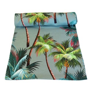 "Tropical Paradise Palm Tree Table Runner 104"" Long For Sale"