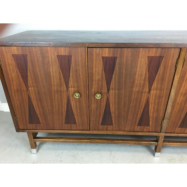 Mid-Century Walnut With Rosewood Inlay Credenza - Image 3 of 8