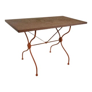 Vintage French Iron Garden Table For Sale