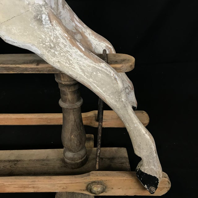 Wood Mid 19th Century British Carved and Painted Wood Merry-Go-Round Carousel Horse For Sale - Image 7 of 13