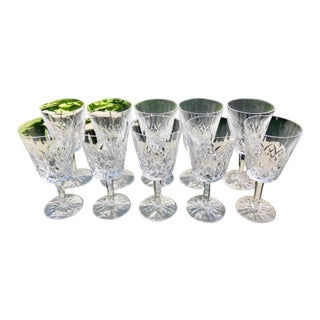 Waterford Lismore Crystal Goblets - Set of 10 For Sale