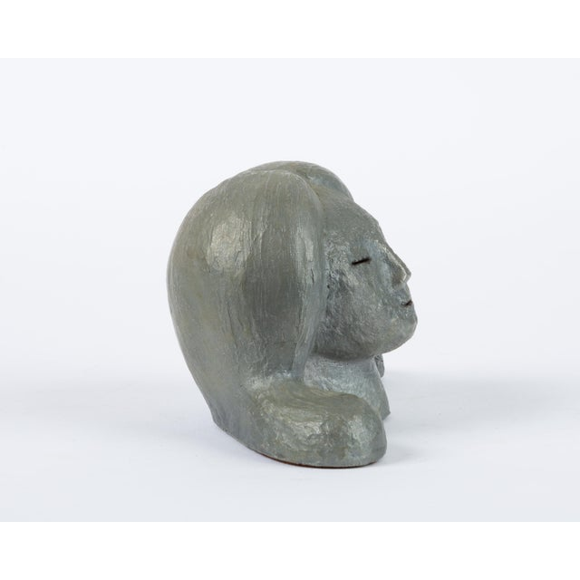 Paint Alexa Acuña Plaster Bust of a Young Child For Sale - Image 7 of 11