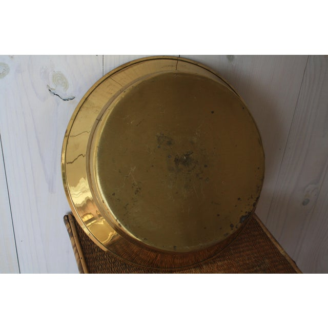 Mid 20th Century 20th Century Hollywood Regency Brass Bowl For Sale - Image 5 of 8