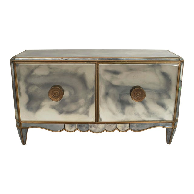 Pair of French Mirrored Commodes For Sale