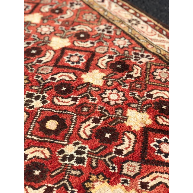 Textile 1960s Vintage Persian Karajeh Runner Rug - 3′7″ × 10′6″ For Sale - Image 7 of 13