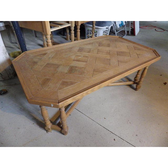 Henredon Rustic Country Coffee Table For Sale - Image 11 of 11