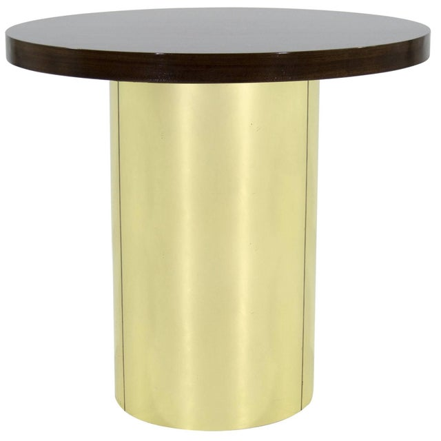 Gold Brass Pedestal by Curtis Jere For Sale - Image 8 of 8