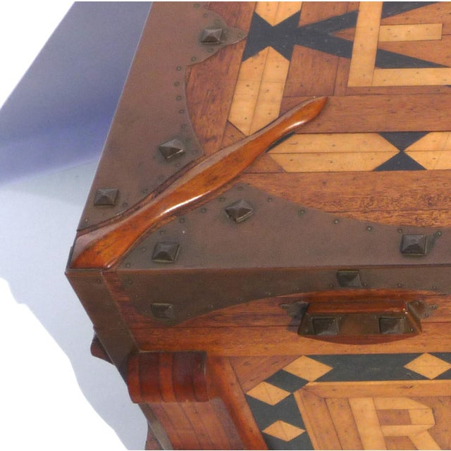 Phenomenal Parquetry & Brass Blanket or Hope Chest - Image 8 of 10