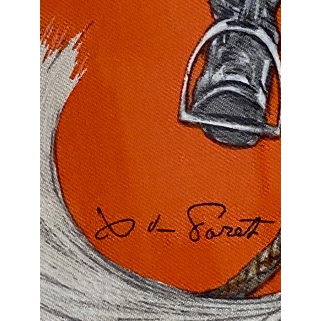 """2000 - 2009 Framed Vintage Unused Hermès Silk Scarf """"Propos De Bottes"""" For Sale - Image 5 of 9"""