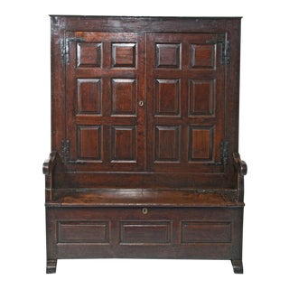 18th Century English Oak Bacon Settle