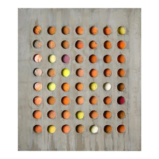 "Pierre Auville ""56 Circles"", Mixed Media For Sale"