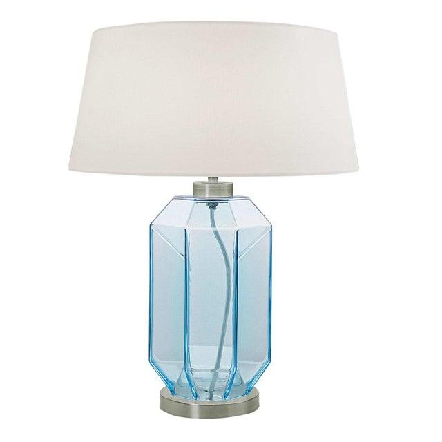 Mid-Century Modern Laguna Hexa Table Lamp in Aqua Colour For Sale - Image 3 of 3