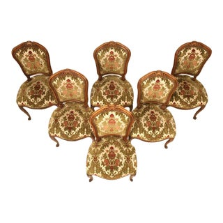 C. 1940's French Louis XV Cherry Dining Chairs - Set of 6 For Sale