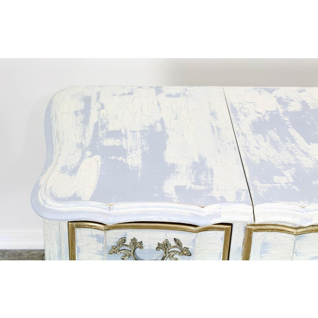 Shabby Chic French Provincial White Shabby Chic Vanity Desk For Sale - Image 3 of 13
