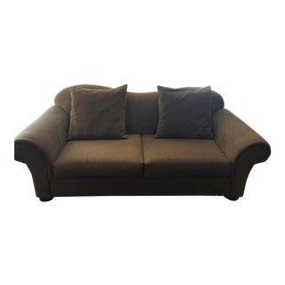 Modern Crate & Barrel Camelback Sofa For Sale