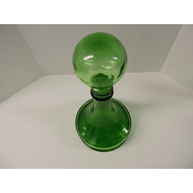 Vintage Green Glass Wine Decanter - Image 3 of 4