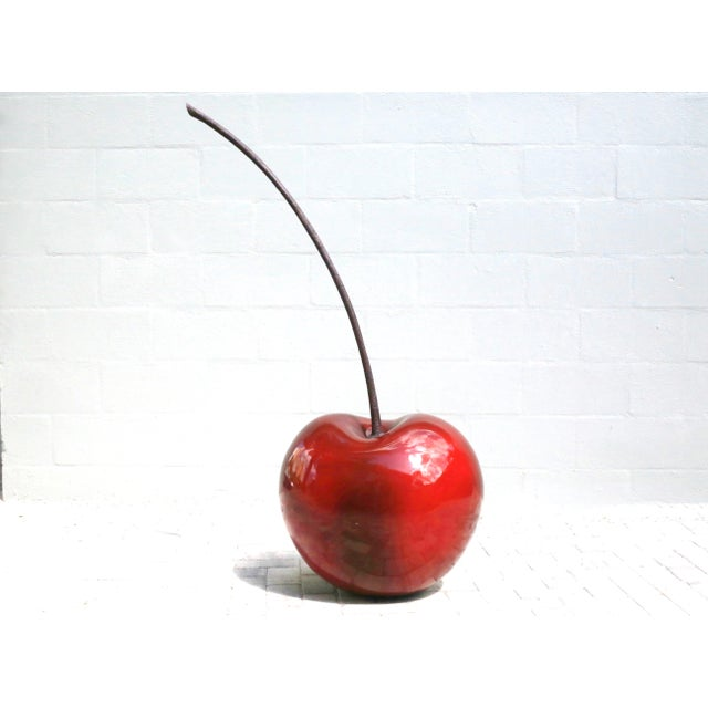 Plastic Monumental 4.5 Foot Tall Red Cherry Sculpture Pop Art For Sale - Image 7 of 10