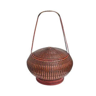 19th Century Chinese Wedding Basket For Sale