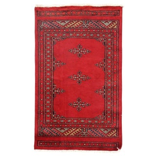 Pasargad DC Pak Bokhara Hand-Knotted Rug - 2' × 3' For Sale