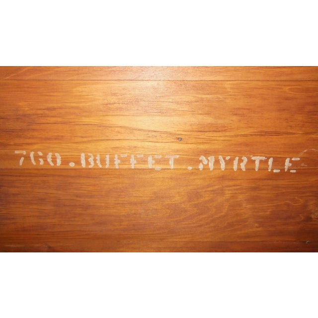Wood 1930's Myrtlewood Buffet (2 of 3) For Sale - Image 7 of 11